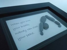 Pebble art / yoga pebble art / downward dog / от ScotiaGlass