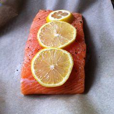 Fresh salmon, simple Food