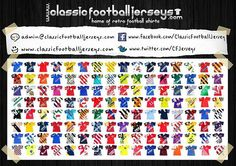 Thousands of classic football shirts for sale at www.classicfootballjerseys.com.  Visit us now....  #classicfootball #classicfootballjerseys #classicfootballjerseys #vintageforsale #vintagefootballshirt #vintagefootballshirts #oldfootballshirt #oldfootballdays #oldfootballshirts#retrofootball #retrofootballshirts Old Football Shirts, Classic Football Shirts, Soccer Shirts, Football Jerseys, Instagram Posts, Football T Shirts, Football Shirts, Football Shirts