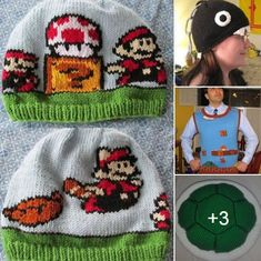 Today is Mario Day ( Mar10 - get it?). Celebrate this classic game with 6 Mario knitting patterns (4 of them are free) at http://intheloopknitting.com/gaming-knitting-patterns/ #Mar10Day