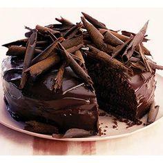 torta de chocolate con rallado de chocolate!