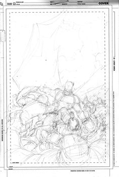 Batman #1 Cover Layout by Greg Capullo
