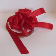 #9 Satin Ribbon for narrow size pew bows.  Available in over 50 colors.  Click on photo for more information.