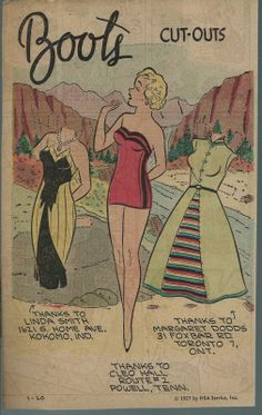 1-20-57 Boots paper doll / eBay