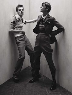 Fashion Copious - Stella Tennant & James Crewe by Tim Walker for Vogue Italia July 2016 Tim Walker, Stella Tennant, Boyish Girl, Vogue Photography, White Photography, Androgynous Models, Fashion Images, Fashion Men, Best Photographers