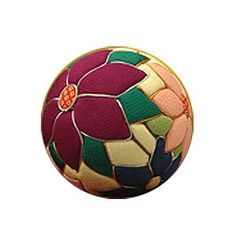 Photo2: Japanese Chirimen Temari Ball Kit ( Tessen- Clematis)