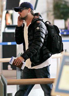 Actor Leonardo Di Caprio departing from International Vancouver wearing Moncler #moncler #leonardodicaprio #monclerfriends