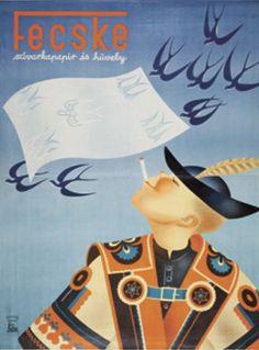 artmagazin az on-line művészeti magazin Retro Ads, Retro Vintage, Hanna, Best Ads, Illustrations And Posters, Hungary, Old World, Baddies, Vintage Posters