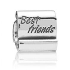 Sterling Silver Best Friend Beads Charms  Fit pandora,trollbeads,chamilia,biagi and any customized bracelet/necklaces. #Jewelry #Fashion #Silver# handcraft #DIY #Accessory Clips Pandora, Pandora Beads, Pandora Bracelet Charms, Pandora Jewelry, Pandora Accessories, Best Friend Pandora Charm, John Greed Jewellery, Beads For Sale, Best Jewelry Stores