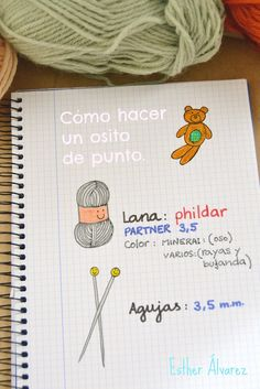 Hoy traigo una novedad: mi primer tutorial.    Quiero enseñaros mi manera de hacer osos de punto.    Ya pasaron por el blog  Lamberto  y ... Knitting For Kids, Baby Knitting, Knitted Dolls, Animal Party, Kids And Parenting, Bullet Journal, Place Card Holders, Diy Crafts, Blog