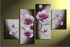 La flor de la Magnolia pintura al óleo sobre lienzo arte de la pared, Top decoración del hogar JYJZ003 ( ningunos capítulo )