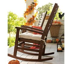 autumn porch...I love the rockers id love to get two big ones and two lol ones