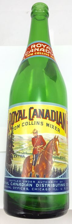 Royal Canadian Tom Collns Mixer Bottle