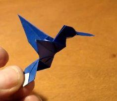 Flying origami bird