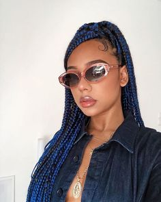 African Braids Hairstyles Pictures, African Natural Hairstyles, Box Braids Hairstyles, Easy Hairstyle, Protective Hairstyles, Protective Styles, Short Box Braids, Big Braids, Braids With Curls