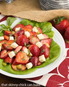 Basil, Brie and Strawberry Salad #SundaySupper #FLStrawberry