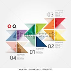 Modern Design Template / Can Be Used For Infographics / Numbered Banners / Horizontal Cutout Lines / Graphic Or Website Layout Vector - 126081527 : Shutterstock