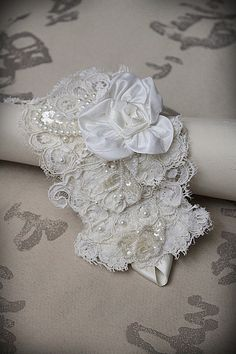 ROSALBA White Bridal Lace Cuff by carlafoxdesign on Etsy, $85.00