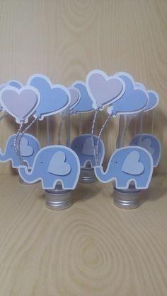 Elephant Baby Shower Centerpieces, Baby Shower Decorations For Boys, Baby Shower Gifts For Boys, Baby Shower Fun, Baby Decor, Elephant Baby Showers, Baby Elephant, Baby Shower Cupcake Toppers, Elephant Birthday