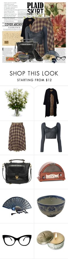 """""""plaid skirt"""" by noextrate ❤ liked on Polyvore featuring New Growth Designs, Burberry, Dolce&Gabbana, Pieces, KamaliKulture and CO"""