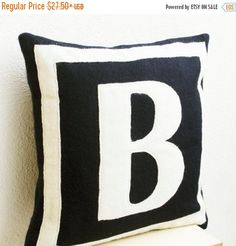 10% OFF Customized Monogram throw pillow  Felt by AmoreBeaute