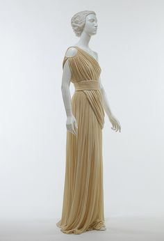 Evening gown, 1967–85 Madame Grès (French, 1903–1993) Cream silk jersey