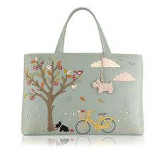 Radley Signature Sweet Pickings 2010 22nd Radley Signature bag to be released. YEAR: 2010 SEASON:Autumn / Winter NAME: Sweet Pickings DESCRIPTION: Radley Signature Sweet Pickings picture bag highlights Radley's love for bicycles! Radley is out with his bicycle on an Autumnal day, holding a patterned apple which has fallen from a …
