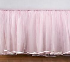 tulle bed skirt for little girls room