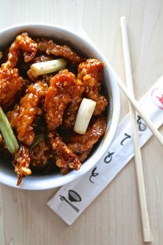"General Tso's Chicken from Oregon Transplant ""This recipe is a winner, times a million! The chicken is perfectly crunchy and delicious when coated with such a savory, glazed sauce"""
