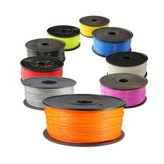 This is Printer PLA Yellow filament which is commonly used by reprap, Makerbot, Mendel, Huxley UP! Printer, WeisTek and Thing-o-matic printers. It comes with one spool that can be easily attached on printer. Home 3d Printer, Color 3d Printer, Cheap 3d Printer, 3d Printer Supplies, 3d Filament, 3d Printer Filament, Marker, Print 3d, Vacuum Packaging