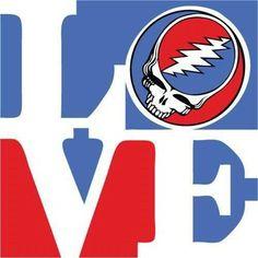 Grateful Dead and the Phila Love statue. Right on!