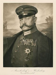 Paul von Hindenburg (1847 -1934) a German military officer, statesman, and politician who served as the second President of Germany during the period 1925–34.