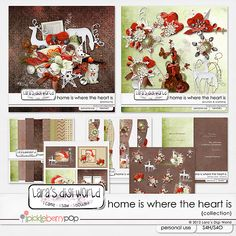 Home is where the Heart is collection by Lara´s Digi World  DEAL OF THE DAY! SAVE 60% OFF!