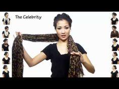 25 maneiras de usar um lenço - YouTube
