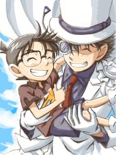 Kaito and Conan. Is there any fanfics of them as brothers?