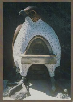"""Falcon Earth Oven (cob oven). From the book """"Build Your Own Earth Oven"""" by Kiko Denzer and Hannah Field https://www.facebook.com/photo.php?fbid=468752103198015=a.223559677717260.54765.148279598578602=1"""