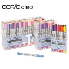 Cheap marker graffiti, Buy Quality dual pen directly from China brush marker Suppliers: Copic Ciao Dual Brush Tip Markers Alcohol Based Graffiti Pen Set Drawing Manga Cartoon Design for Artist Marcadores import Japan