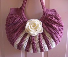 Crochet fat bottom summer shoulder bag, fashion spring/summer/fall ... www.etsy.com