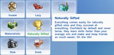 My Sims 4 Blog: Naturally Gifted Trait by DreamCatcherSims4
