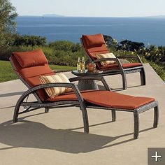 Convertible Chaise Lounge - Frontgate - I must have these!!