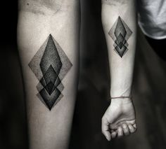 Geometric tattoo dotwork