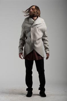 CRYPSIS double-breast wool coat by Sruli Recht
