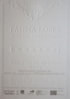 Gaufrage au recto et au verso en alternance pour Fatima Lopes Portugal, Carte De Visite, Ile De France, Impressionism
