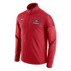 UNLV Rebels Nike 2016 Elite Coaches Dri-FIT 1 2 Zip Jacket - Red 9a08b91d6