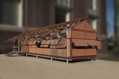 Architectural model made in Delft, 'House of the Future' minor. Rebuild the Marika Alderton House in Australia by architect Glenn Murcutt. Architecture.
