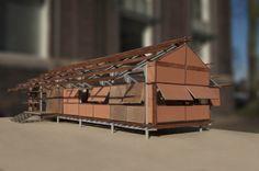 Architectural model made in Delft, 'House of the Future' minor. Rebuild the Marika Alderton House in Australia by architect Glenn Murcutt. Architecture.