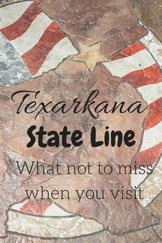 As you drive around America crossing the various dividing lines of the 48 contiguous states, many of them can go unnoticed but that certainly isn't true as you pass between Arkansas and Texas. The wonderfully named town of Texarkana is the perfect location to divide these two states and we decided to take some time here to explore the history of this town.