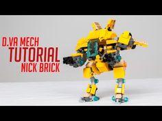 Tutorial: LEGO D.Va Mech - Legendary B.Va Skin - Overwatch - YouTube