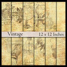 Digital paper pack Antique Vintage Victorian by DigitalMagpie