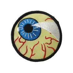 Eye Ball Patch Biker Heavy Metal Horror Halloween Cycle ($5.99) ❤ liked on Polyvore featuring patches, accessories, extra, other accessories and pin